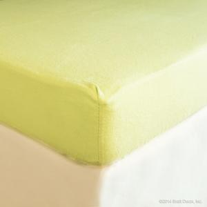 sage flannel crib sheet