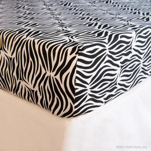 zebra cotton crib sheet