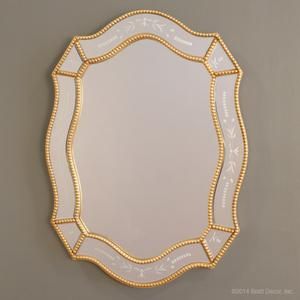 ornate beaded mirror