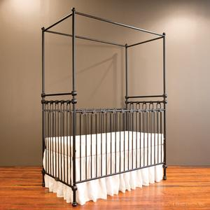 joy canopy crib distressed black