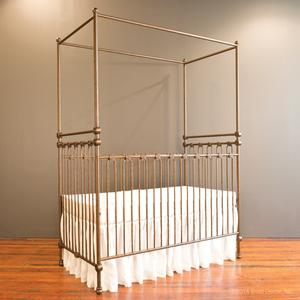 joy canopy crib vintage gold