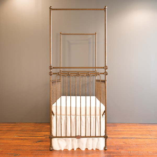 joy canopy crib gold