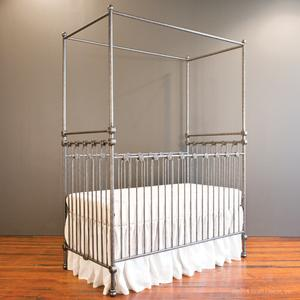 joy canopy crib pewter