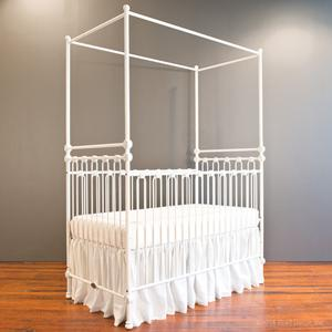 joy canopy crib distressed white