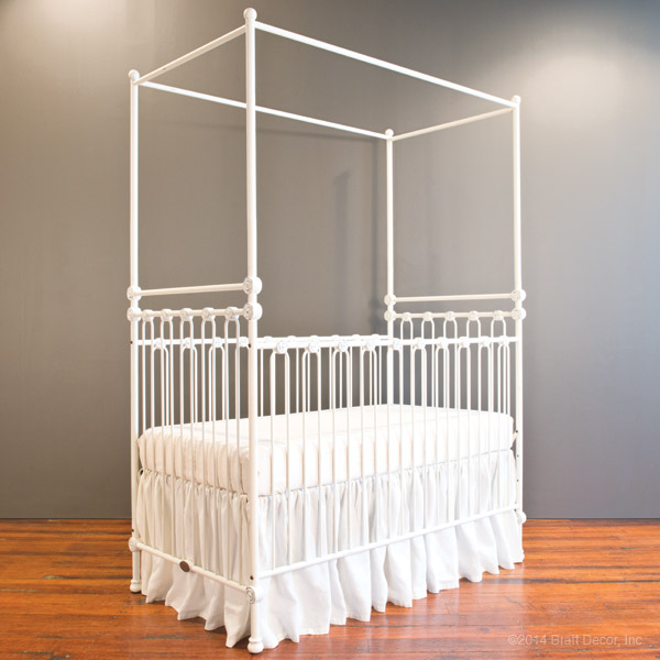 wrought iron cribs luxury cot ... & joy canopy crib distressed white