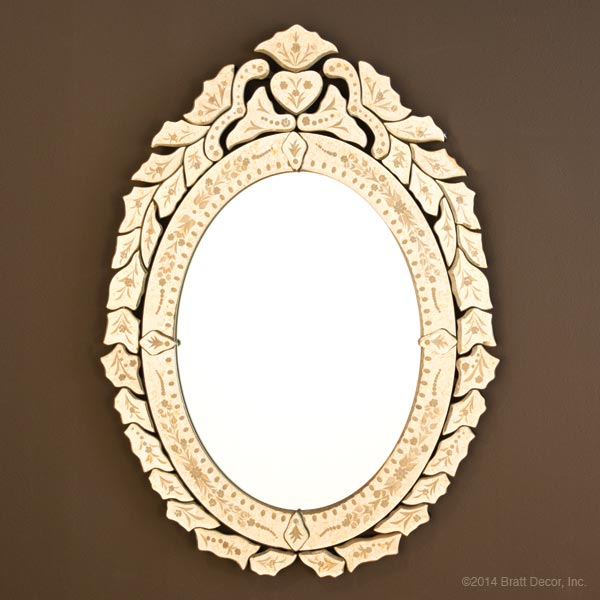 gold oval mirrors notion