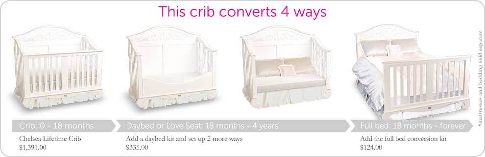 luxury crib baby convertible designer