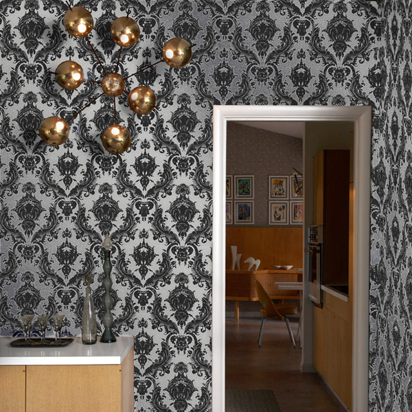 maiden wallpaper in metallic
