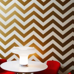 chevron wallpaper in gold