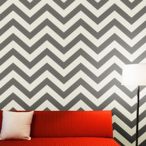 chevron wallpaper in gray