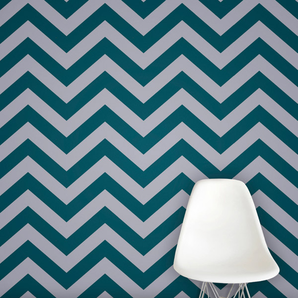 chevron wallpaper in teal