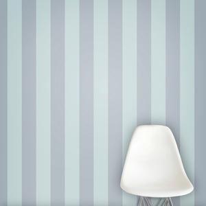 striped wallpaper in periwinkle