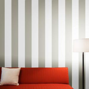 striped wallpaper in gray