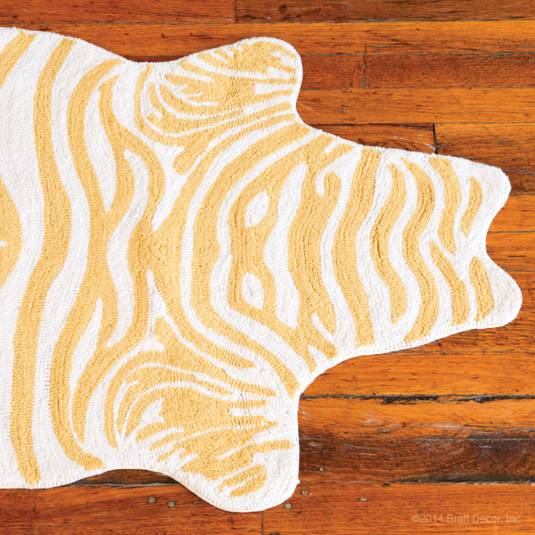 Yellow Zebra Rug