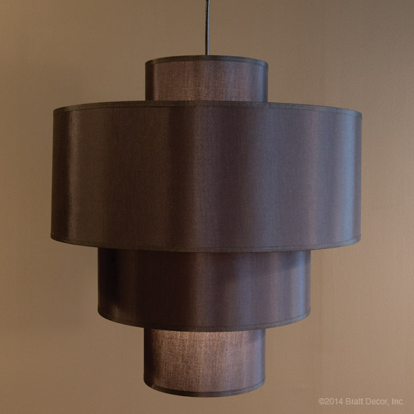 black stacking pendant lamp