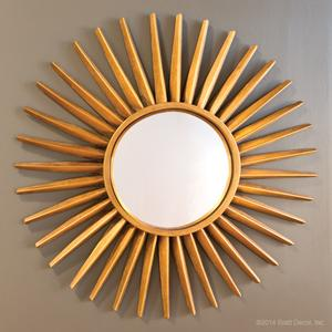 sunray starburst mirrors gold