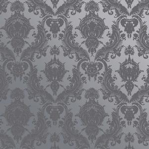 maiden wallpaper in textured blue pearl