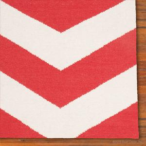 chevron rug - red