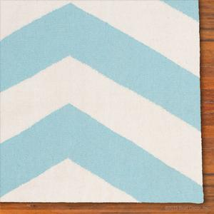 chevron rug - baby blue