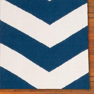 chevron rug - navy