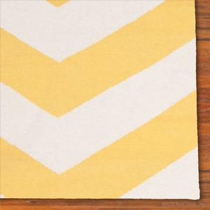 chevron rug - yellow
