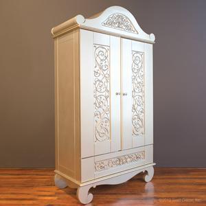 chelsea armoire antique silver