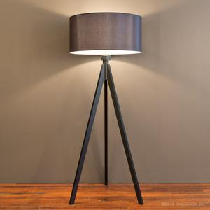 midcentury floor lamp - black