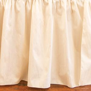 ivory faux silk skirts dust