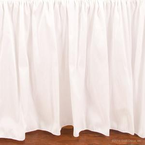 serafina crib skirt - white