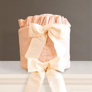 faux silk pink cream ivory