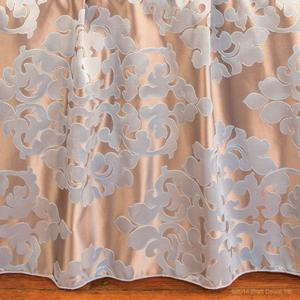 damask blue taupe champagne metallic