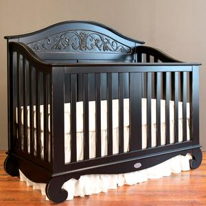 chelsea lifetime crib distressed black