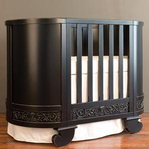 chelsea darling crib cradle dist black