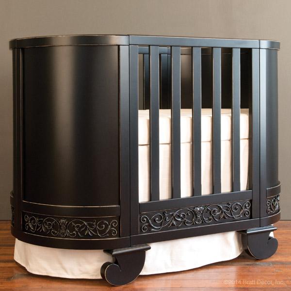 Chelsea Darling Crib Cradle Distressed Black