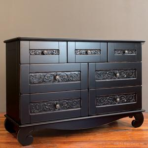 chelsea dresser distressed black
