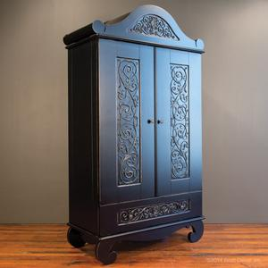 chelsea armoire distressed black