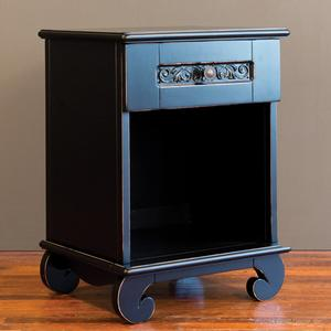 chelsea night stand distressed black