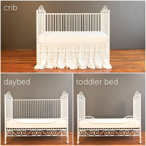 casablanca crib distressed white