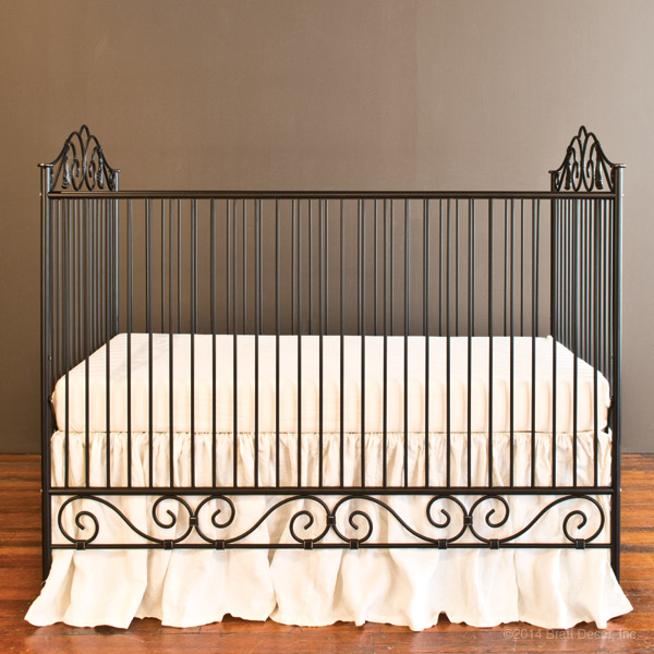 casablanca crib distressed black