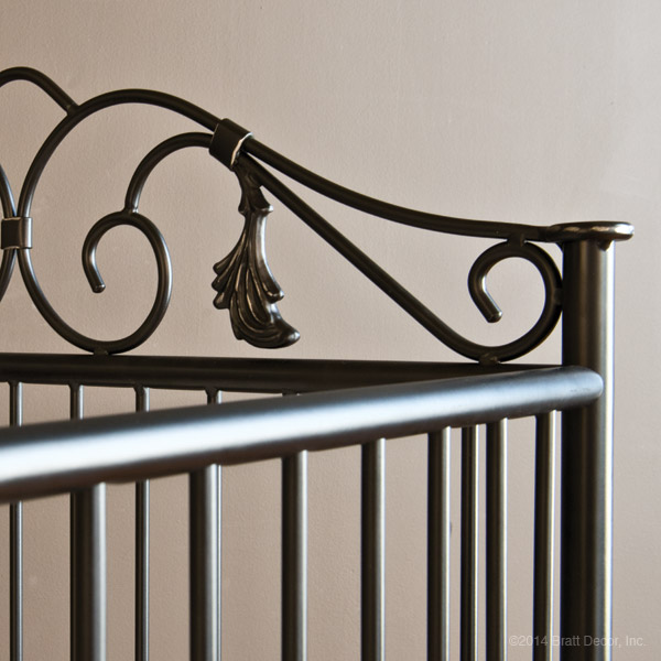 wrought iron cribs vintage metal