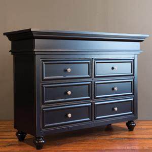 classic double changing chest black