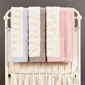 luxe faux suede baby blanket