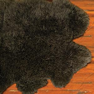 urban sheepskin rug in slate - large