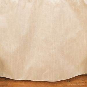 round ivory cream faux silk