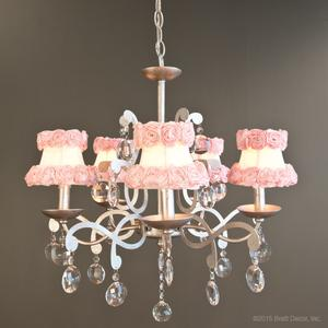 flower flowers chandeliers pink pewter