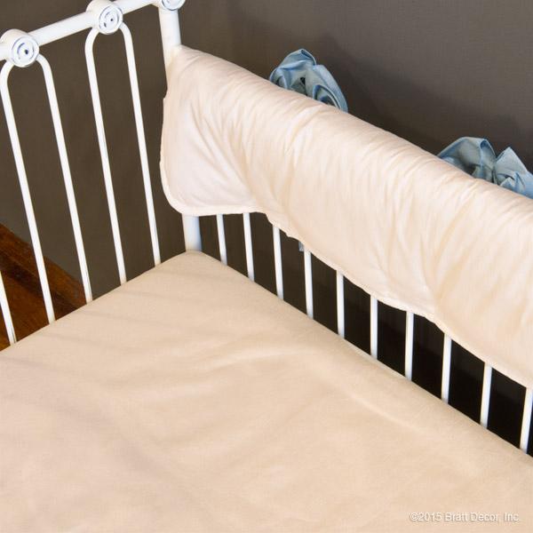 serafina crib rail cover - cream