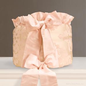 girl pink ivory cream metallic