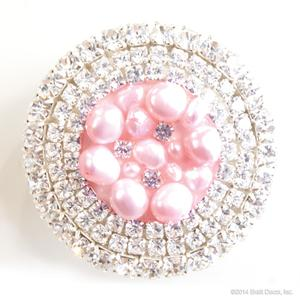 glamour knob - pink pearl