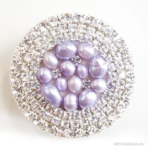 glamour knob - lavender pearl