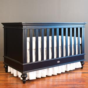 hampton crib black